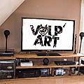 Le meuble tv pour julien mis en place