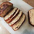Cake champignons, lardons, oignons