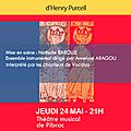 Vocalya présente,« king arthur »,musique d'henry purcell,théâtre musical de pibrac, jeudi 24 mai 2018 à 21h,