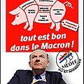 La campagne de lancement national du macron, avec le concours du medef