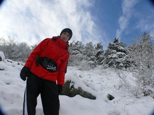 2008 10 30Moi Cyril sur le chemin en direction du Sommet du Pic du Lizieux