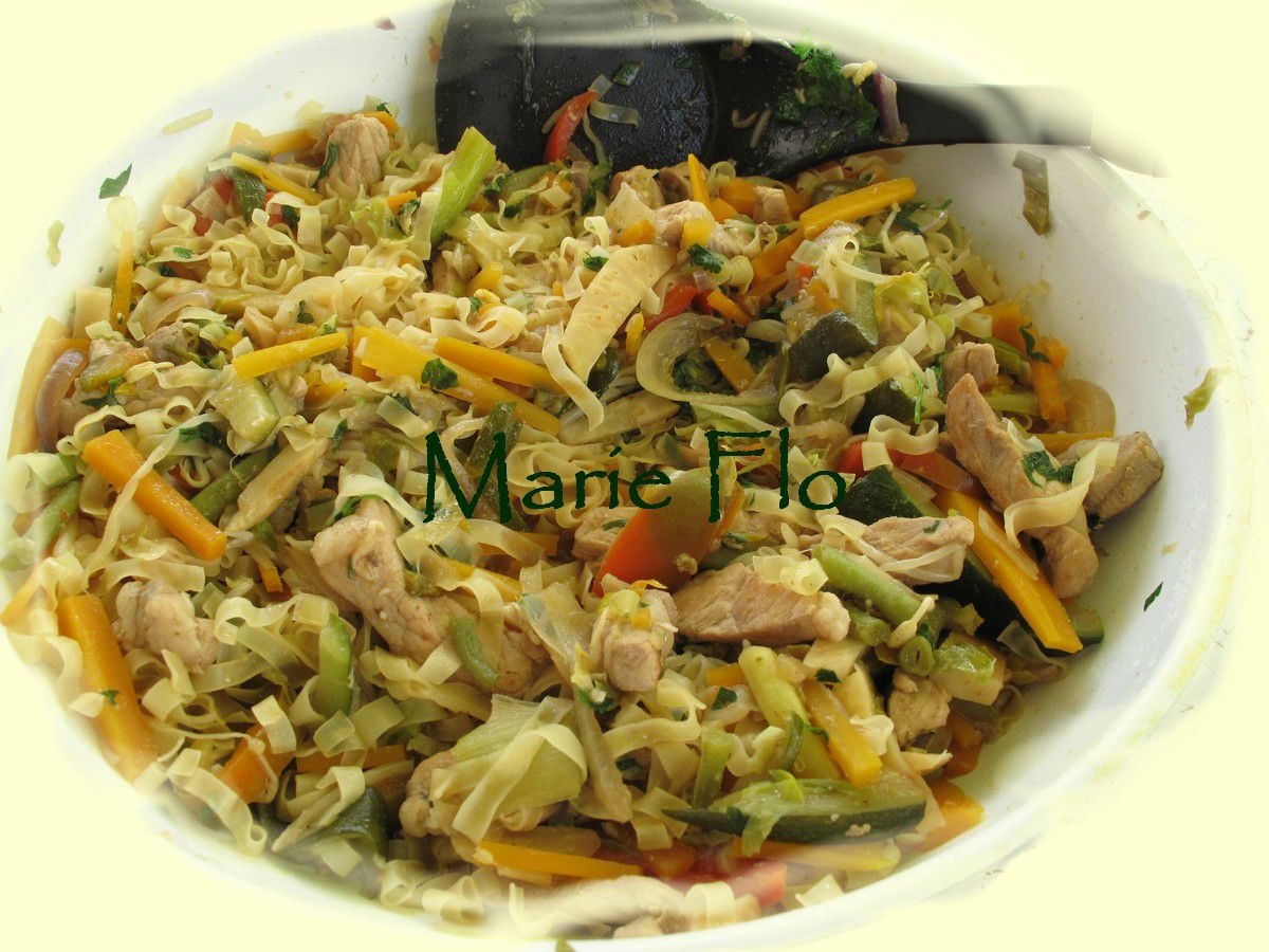 Sauté de porc aux légumes à la Chinoise
