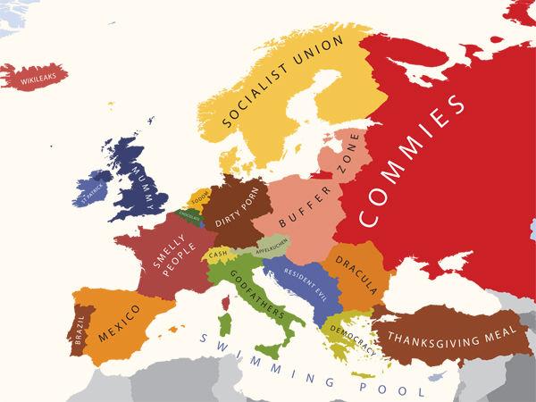 carte europe etats unis