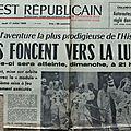 La mission Apollo XI dans l'Est Républicain du 17 juillet 1969
