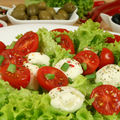 Salade roquette mozarella
