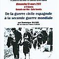 Conférence du dimanche 12 mars 2017. hommage à francis sureda