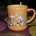 Mug 3d Diddl orange