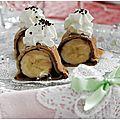 Crêpes banane et chocolat façon