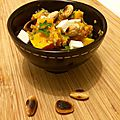 Quinoa à la courge butternut, féta et amandes