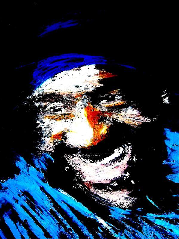Marcus, pastel à l'huile sur toile marouflée, 2010, 100x73cm