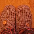 Pantoufles dame au tricot