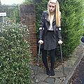 UK girls on crutches for sprained ankle and other feets injuries