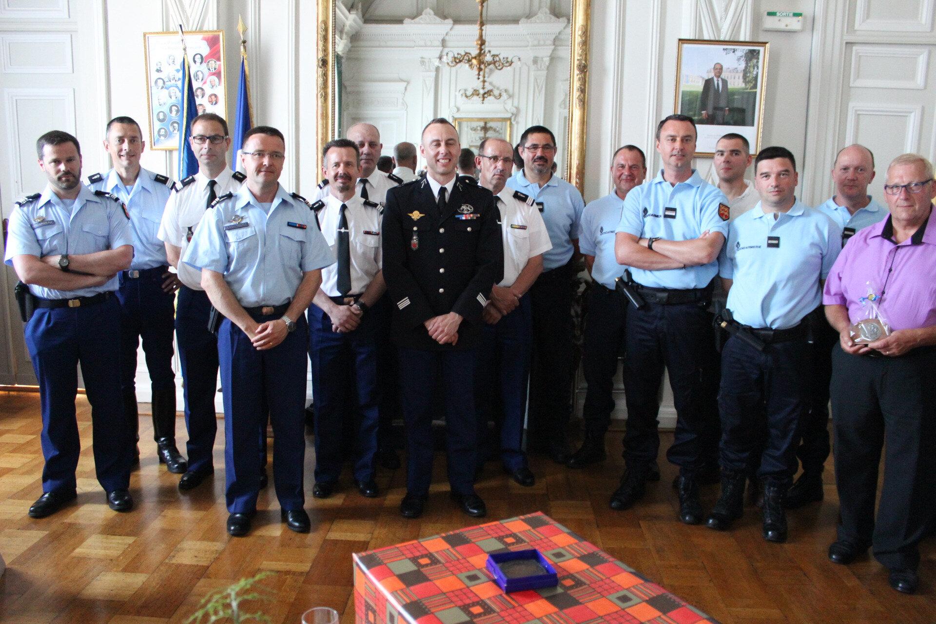 Cérémonie départementale en hommage au Lieutenant-colonel Arnaud Beltrame à Avranches - mercredi 28 mars 2018