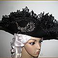 Chapeau tricorne carnaval venise deguisment baroque casanova danse macabre gala nocturna halloween jeu de role gothique pirate