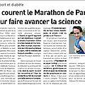 Ils courent le marathon de paris pour faire avancer la science