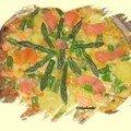Frittata aux asperges et saumon fume, chez séréna à grimaldi
