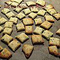 Crackers au romarin et parmesan