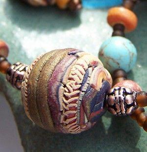 perle craquelee au clay gun