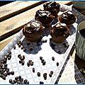 Muffins corsés cacao amer / café, pour réveils difficiles !