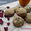 Biscuits à l'orange et aux canneberges, sans gluten, pour jour de pluie