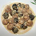 P'tits gris et champignons sauce au munster