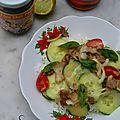 La salade d'inspiration thaïlandaise et sa sauce magique (qui pique)
