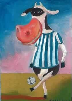 Soccer argentine cow