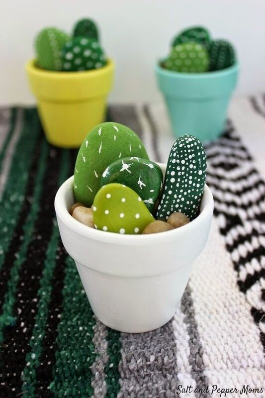 DIY - fete des meres - ado -cactus en pierre -ado