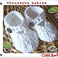 Chaussons babies crochet tuto