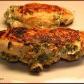Escalopes de poulet ail et fines herbes, et son médaillon de pomme de terre