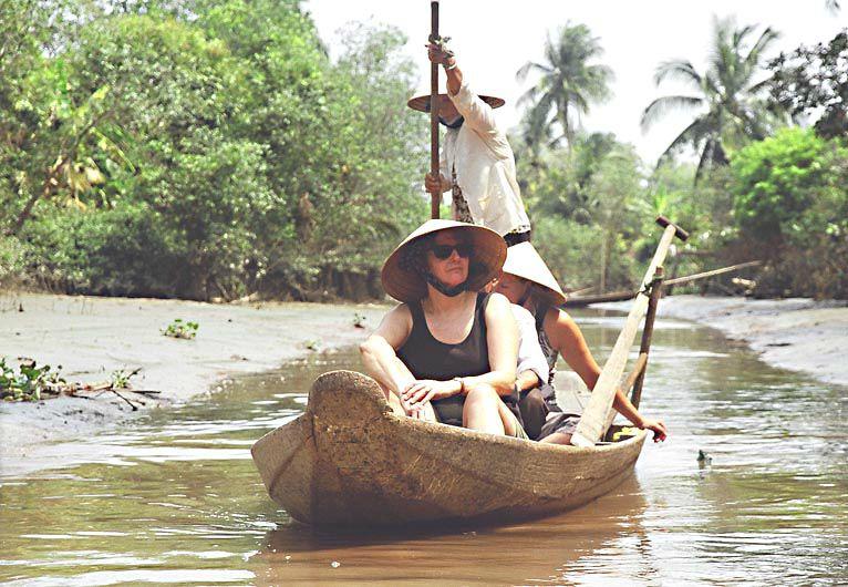 Sur le Mékong - belle balade en barque