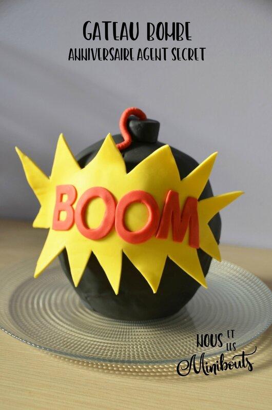gâteau bombe BOOM