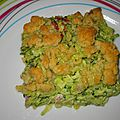 Crumble courgettes et jambon weight watchers