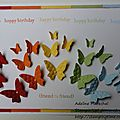 tiny teeny words - happy birthday - butterflies