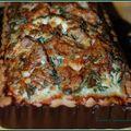 Quiche aux épinards saumon macéré et brillat-savarin