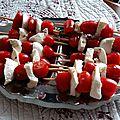 Brochettes tomate cerise-mozzarella