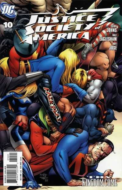 DC comics justice society of america 10 variant