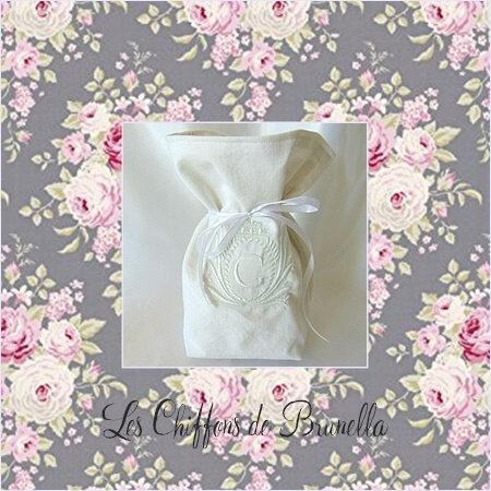 Vase Pochon Blanc G 1