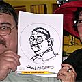 Animation caricature façon héros de bande-dessinée