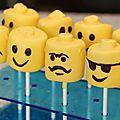 Cake pops lego en marshmallow