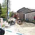 Travaux d'<b>assainissement</b> au village des Monts