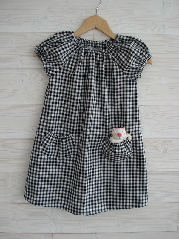 robe japan couture vichy de la Droguerie la H -2