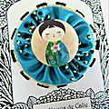 ♥ naïs ♥ broche yoyo poupée japonaise kokeshi - les yoyos de calie