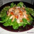 Salade gourmande aux crevettes et au thon