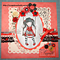 Carte de scrap une belle rencontre
