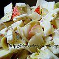 Salade fraîcheur endive-chèvre-pomme (végétarien)