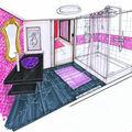 Aménagement d'une maison sur plan (91 ) - petite salle d'eau