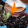 De retour du marché de Sizun: croque-pancakes de <b>blé</b> <b>noir</b>, fromage, charcuterie...