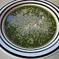 Soupe à l'épinard de <b>Valeria</b> / <b>Valeria</b>'s spinach soup