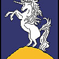 Point de croix : blason cheval